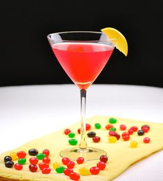Easter candy martinis - Sparkling Jelly Bean Infused Vodka Martini, plus Marshmallow Peep Martini and Caramel Cadbury Egg Martini