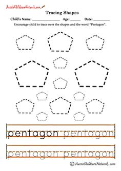Find, Trace, Color and Count the Shapes: Square. Practice pre-writing, fine motor skills and identifying square shapes with this printable tracing shapes Triangles Preschool Tracing Worksheets. Kindergarten Math Activities, Toddler Learning Activities, Preschool Math, Preschool Worksheets, Shape Activities, Preschool Printables, Preschool Ideas, Shapes Worksheets, Tracing Worksheets