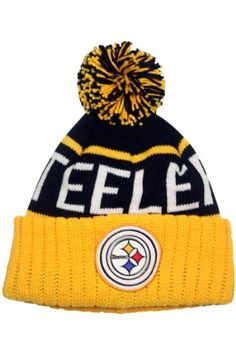 559bbbe2aa7 Pittsburgh Steelers Vintage Cuffed Pom Knit Cap Beanie   Want to know more