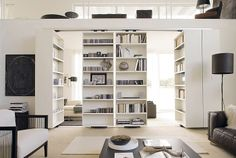Rotating Storage Ideas | Vista Room Separator -- sliding, rotating storage space and room ...