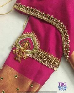 New Embroidery Blouse Indian Sleeve Ideas Cutwork Blouse Designs, Kids Blouse Designs, Wedding Saree Blouse Designs, Hand Work Blouse Design, Simple Blouse Designs, Stylish Blouse Design, Blouse Neck Designs, Hand Designs, Aari Work Blouse