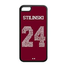 Perfect life store Teen Wolf Genim Stilinski 24 on Black Rubber and Plastic case for iphone 5C ** Read more reviews of the product by visiting the link on the image.