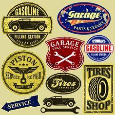 Targhe vintage garage