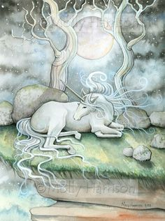 (via Unicorn Horse Fantasy Fine Art Print by Molly by MollyHarrisonArt)