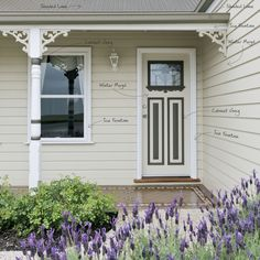 Ideas For Exterior Paint Colors For House With Porch Grey Cottage Exterior Colors, White Exterior Houses, Exterior Paint Colors For House, Paint Colors For Home, Paint Colours, Exterior Shades, Exterior Color Schemes, Exterior Design, Colour Schemes