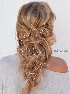 Romantic down wedding hairstyle. Hair by Whitney at Luxe salon + spa in Lancaster, PA