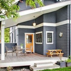 1000 images about home exterior on pinterest navy blue houses yellow doors and benjamin moore - Orange exterior paint decor ...