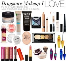 """Drugstore Makeup I LOVE"" by yasminnrashl on Polyvore"