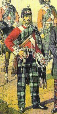 74th Highlanders. Officer in full dress circa. 1866