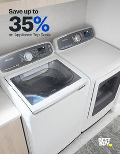 Samsung Activewash with Steam and Electric Dryer. Want to pretreat your clothes while you're at the washer? You can with the built-in sink the Samsung Activewash features. You'll also be able to steam dry your clothes right at home with the matching Samsung Electric Dryer. Offer valid 3/28/19–4/17/19. Minimum savings is 5%.