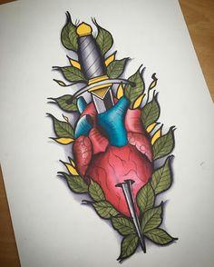 #dagger #daggertattoo #daga #heart #hearttattoo #tattooneotraditional #neotraditionaltattoos #flash #flashtattoo #desing #desingtattoo #art #tattooed #tattooartist #tattooart #tattooflash #tattooer #tattooink #tattooapprentice #tattoolove #madrid #madridtattoo #apprentice #watercolors #watercolorsketch #watercolortattoo