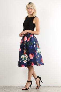 New arrival! floral a line skirt Buy it here now http://www.rkcollections.com/products/l7513-2_smfl?utm_campaign=social_autopilot&utm_source=pin&utm_medium=pin