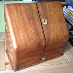 Victorian Mahogany Desk Top Letter Rack Stationary Cabinet Box Asser Sherwin | eBay