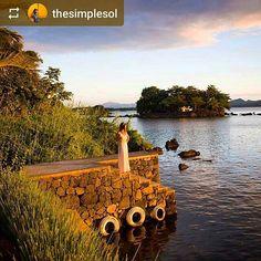 #Follow @thesimplesol: #Sunset on private #island of #IsletaElEspino #Granada #Nicaragua #ILoveGranada #AmoGranada #Travel #lake