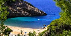 The deserted shores of Cali Moli in Ibiza...