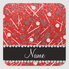 Custom name neon red glitter lacrosse sticks square sticker lacrosse promposal, lacrosse quotes boys, lacrosse signs #LacrosseWrap #LacrosseCleats #lacrossedevelopment, back to school, aesthetic wallpaper, y2k fashion Lacrosse Sticks, Promposal, 4th Of July Party, Red Glitter, Blue Bird, Custom Stickers, Lacrosse Quotes, Make It Yourself, Pattern