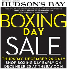 Boxing Day Shopping Deals 2013