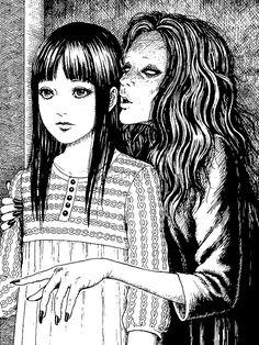 Manga Girl, Junji Ito, Aliens, Beautiful Dark Art, Aesthetic Space, Japanese Horror, Gothic Anime, Dark Artwork, Cute Profile Pictures