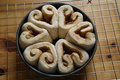 valentine - heart-shaped cinamon rolls - via babble
