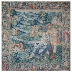 XVIth Century Brussels Tapestry | 1stdibs.com Modern Tapestries, Medieval Tapestry, Brussels, Cool Furniture, Renaissance, Vintage World Maps, Wall Decorations, Wall Art, Antiques