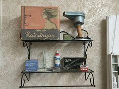 Some of our vintage blow dryers and clippers our clients brought us.