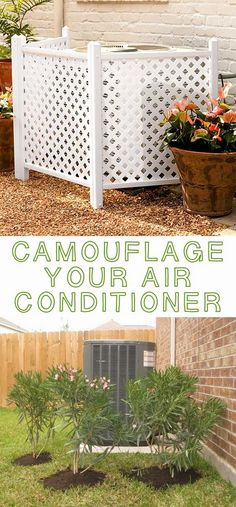 Easy-Curb-Appeal-Ideas+(3).jpg (479×1031) Camouflage air conditioner/furnace