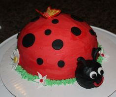 Lady Bug- she said she wanted a lady bug cake. this is cute