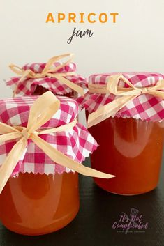 Make the most of seasonal fruit by making your own Apricot Jam. It is a simple pleasure which will reward you with jam that has a pure, fruit flavour. Nothing beats homemade jam! Apricot Jam Recipes, Jam And Jelly, Fruit In Season, Canning Recipes, Vegan Recipes, Delicious Recipes, Sweet Recipes, The Best, Marmalade