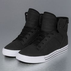 Supra Skytop Skate Shoes Black/White