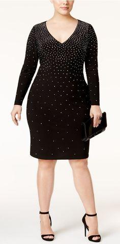 Plus Size Embellished Bodycon Dress