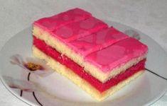 Šťavnaté punčové rezy..., recept | Tortyodmamy.sk Slovak Recipes, Czech Recipes, Russian Recipes, European Dishes, Raw Cake, Vanilla Cake, Baked Goods, Sweet Tooth, Cheesecake
