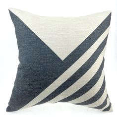 Linen Cotton Pillow Cover Heavy Weight Linen Cotton printed Geometric design in black color. # Item listed price is for ONE piece Pillow / cushion, Pillow Fabric, Cotton Pillow, Cotton Linen, Black Pillows, Geometric Pillow, Handmade Home, Line Design, Home Textile, Decorative Throw Pillows