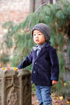 Dashing Holiday Outfits for Boys - Holiday Party Hipster Velvet Blazer