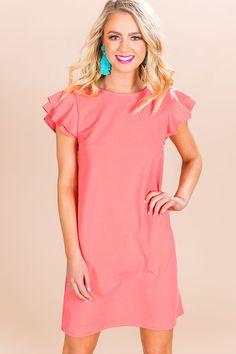f56d0dc6cab2d Throw A Curve Shift Dress in Calypso. Impressions Online Boutique