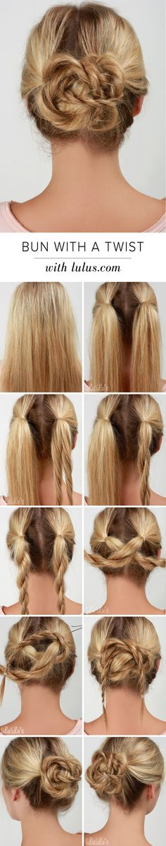 LuLu*s How-To: Bun with a Twist Hair Tutorial at LuLus.com!