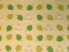 """Image of Daisies & Leaves - Extra Large (19.7"""" sq.) - White, Yellow and Green"""
