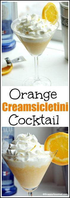 Orange Creamsicletini Cocktail recipe - easy homemade drink and twist on orange creamsicles