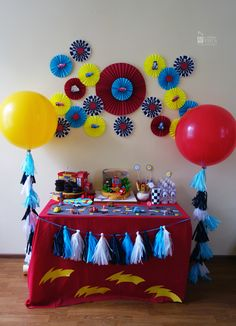 Candy bar. Paper decor. Cars style. 3d birthday for boy. Cartoon. McQueen. Balloons. Tassel garland. Tussel garland.