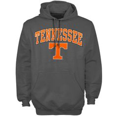 Tennessee Volunteers New Agenda Midsize Arch Over Logo Hoodie - Charcoal - $26.99