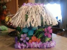Decorated card box that went with my hawiian/beach themed party! :) .
