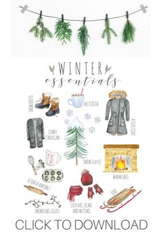 Winter Fun, Winter Time, Winter Christmas, Christmas Time, Christmas Crafts, Christmas Decorations, Xmas, Welcome Winter, Winter Illustration
