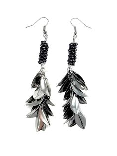 Feathered Metal Earring in Black - $12.60 : FashionCupcake, Designer Clothing, Accessories, and Gifts