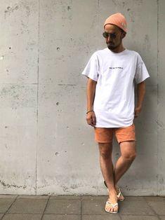 夏だから、オレンジ 夏だからビックT 今年は バックプリント〜 重ね着も辛い時期