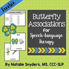 This FREE set of picture association cards is great to use in speech-language therapy! Bonus worksheet included. From Natalie Snyders