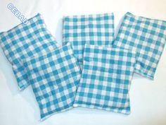 Jolis sachets de lavande au motif vichy turquoise : Accessoires de maison par cebad-bretagne