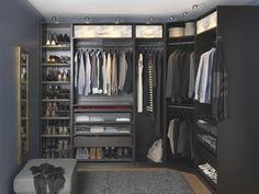 Walk-in Ikea closet