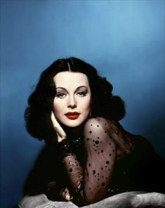 """"""" I dyed my hair black, parted it in the middle, wore masses of white makeup, and very dark lipstick. I was trying to look exactly like Hedy Lamarr. - Jane Greer"""" Portrait of Hedy Lamarr Glamour Hollywoodien, Old Hollywood Glamour, Golden Age Of Hollywood, Vintage Glamour, Vintage Hollywood, Hollywood Stars, Vintage Beauty, Classic Hollywood, Hollywood Divas"""