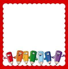 PENCILS Boarder Designs, Frame Border Design, Kids Background, Cartoon Background, Art Drawings For Kids, Drawing For Kids, Welcome To Kindergarten, Free Printable Wedding Invitations, School Border