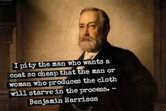 Benjamin Harrison was the grandson of the ninth president, William Henry Harrison, creating the only grandfather-grandson duo to hold the office. Famous Presidential Quotes, Presidential History, All Us Presidents, William Henry Harrison, President Quotes, Usa Gov, Benjamin Harrison, Executive Branch, My Family History