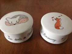 Créations personnalisées sur porcelaine Boîtes à dents